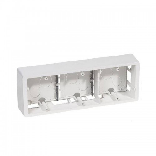 Cadre saillie 3 postes horizontal ou vertical Legrand Celiane Blanc Réf: 080243