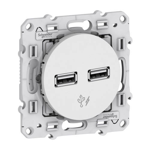Prise double chargeur USB Odace Réf: S520409