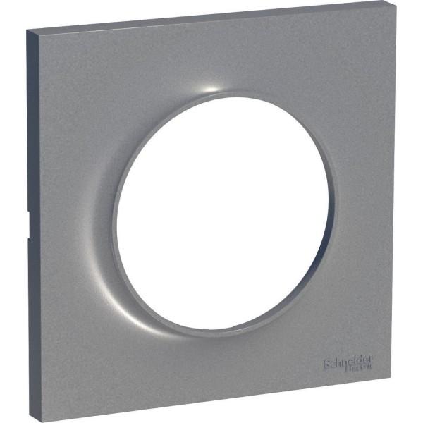 Plaque Odace Styl Aluminium 1 poste Schneider Réf: S520702E